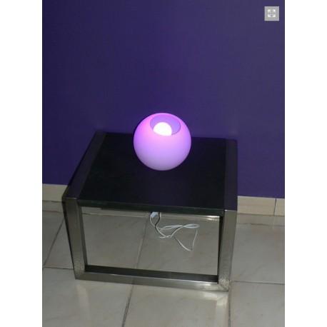 Petite table basse en Inox avec son plateau carré 45cm x45cm