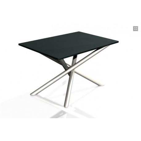 Table en Inox et Ardoise ou verre
